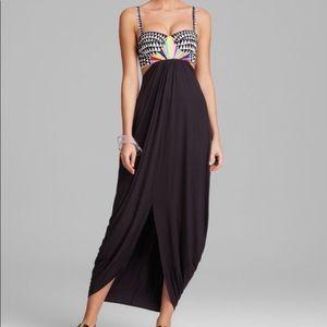 Mara Hoffman | Dress Maxi Aztec Embroidered Bra S